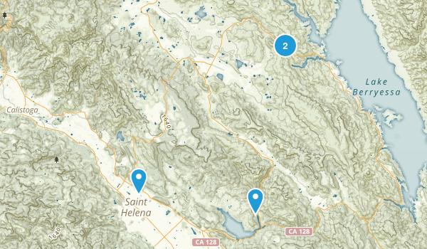 Saint Helena, California Map