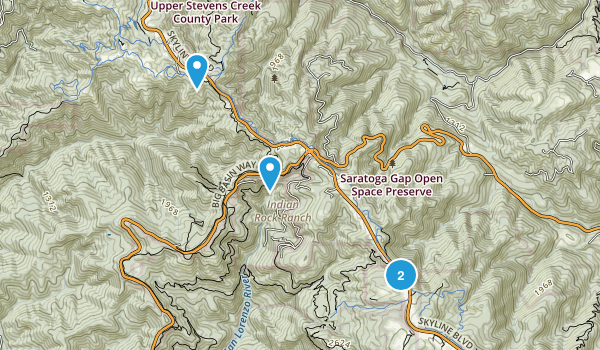 San Lorenzo Park, California Map