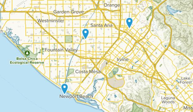 Santa Ana, California Map