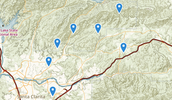 trail locations for Santa Clarita, California