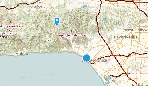 Santa Monica, California Map