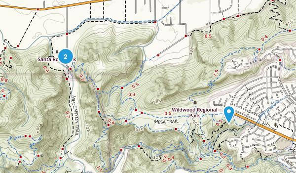 Santa Rosa Valley, California Map