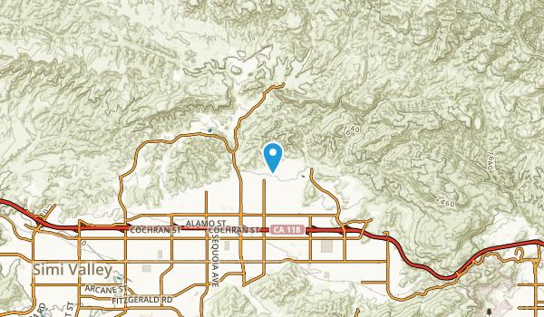 Santa Susana, California Map