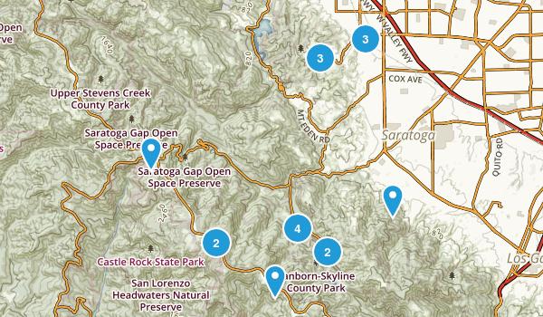 Saratoga, California Map