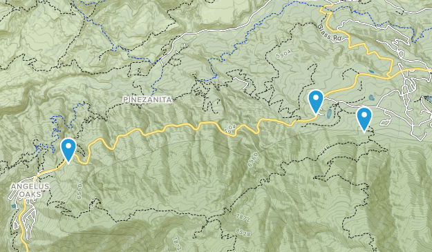 Seven Oaks, California Map