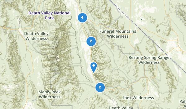 trail locations for Shoshone, California
