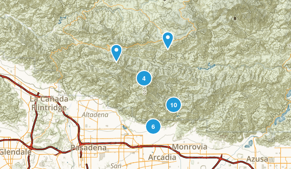 Sierra Madre, California Map