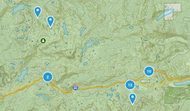 Soda Springs, California Map