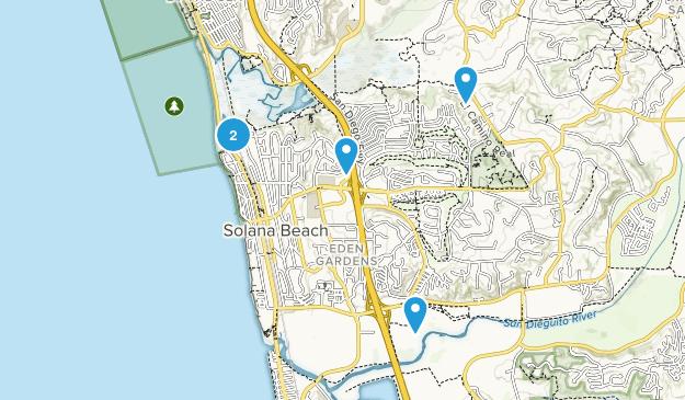 Solana Beach, California Map