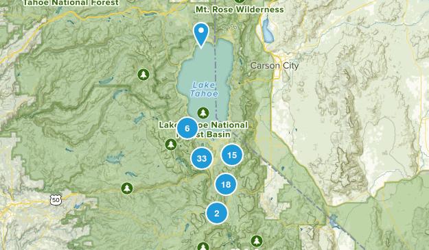 Map of Trails near South Lake Tahoe, California | AllTrails