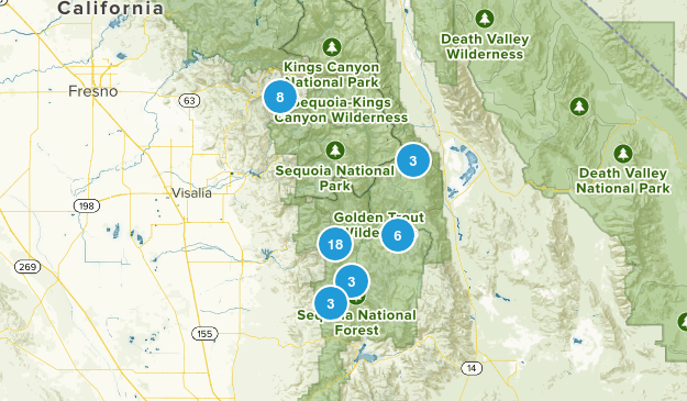 Springville, California Map
