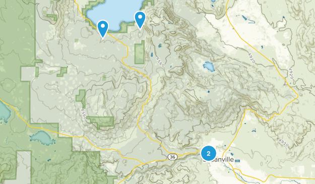 Susanville, California Map