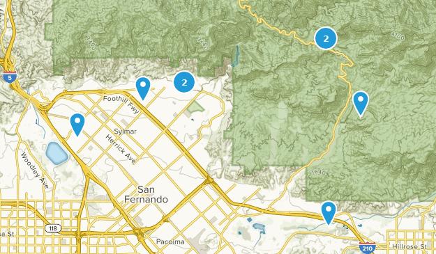 Map Of Trails Near Sylmar California Alltrails