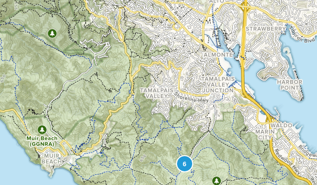 Tamalpais-Homestead Valley, California Map