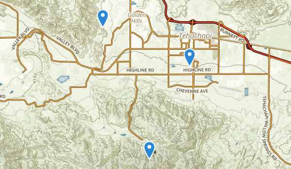 Tehachapi, California Map