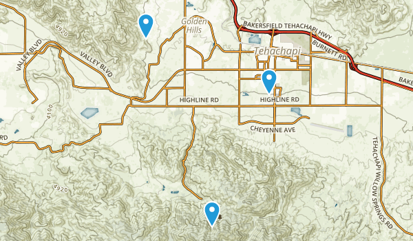 Tehachapi, California Map