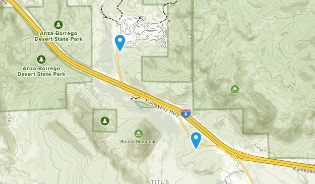 Titus, California Map