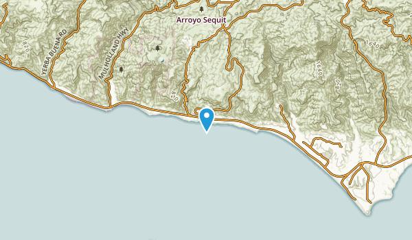 Trancas, California Map