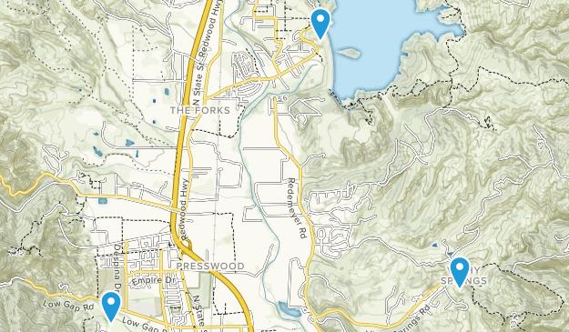 Ukiah, California Map