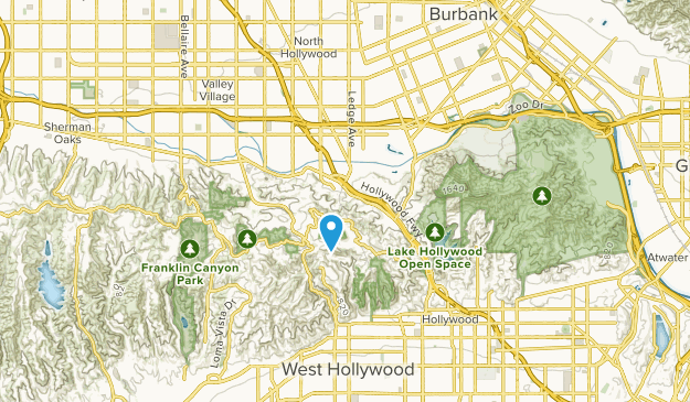 Universal City Studios, California Map