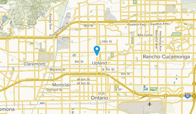 Upland California Map | dijkversterkingbas