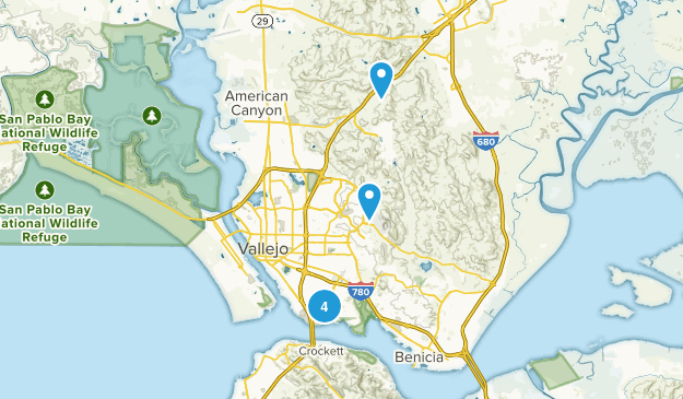 Vallejo, California Map