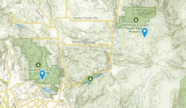 Valley Center, California Map