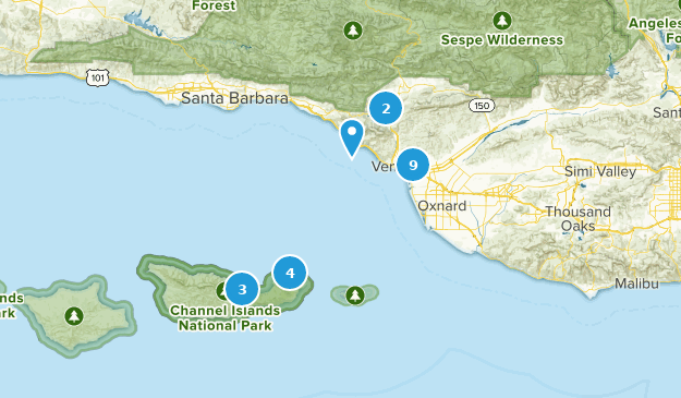 Map Of California Ventura.Map Of Trails Near Ventura California Alltrails