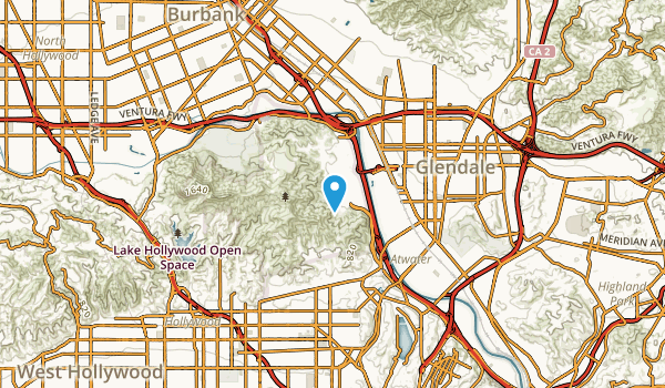 West Glendale, California Map