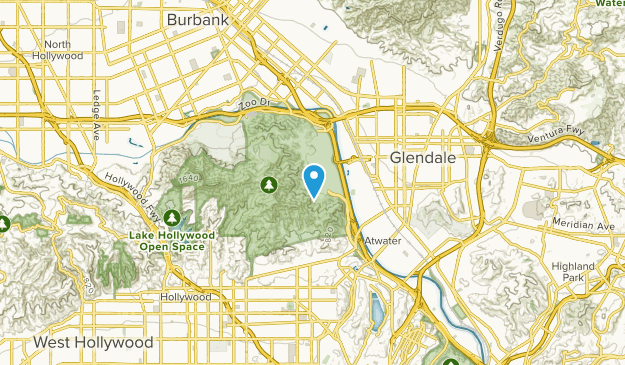 West Glendale, California Map