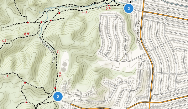 West Hills, California Map