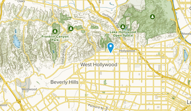 West Hollywood, California Map
