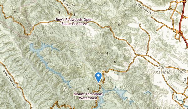 Woodacre, California Map
