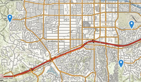 Woodland Hills, California Map