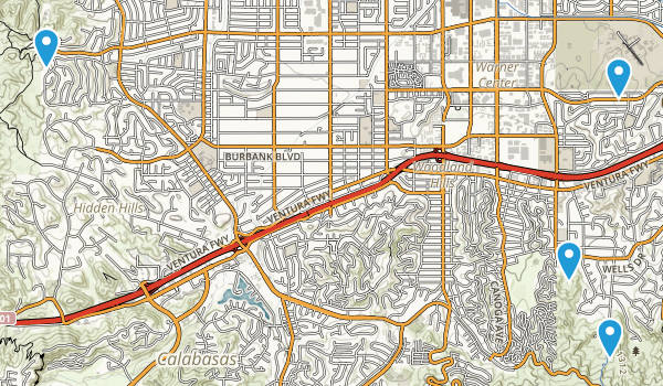 Woodland Hills, California Map