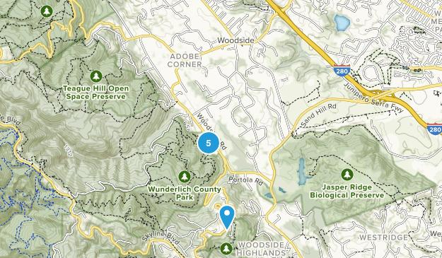 Woodside, California Map