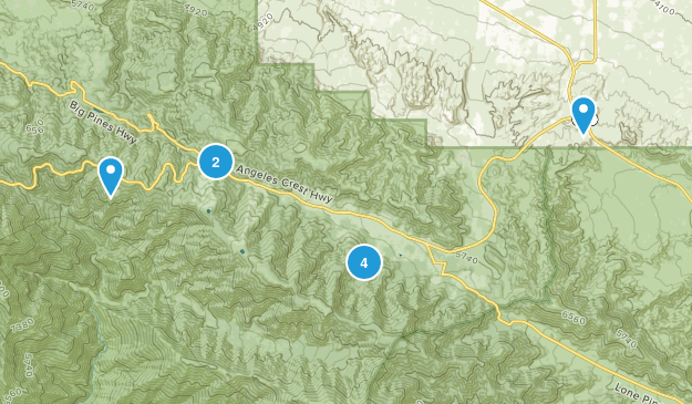 Wrightwood, California Map