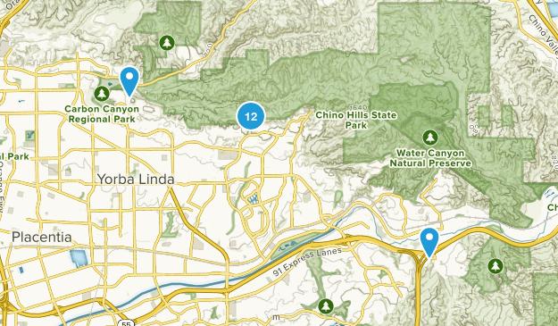 Yorba Linda, California Map
