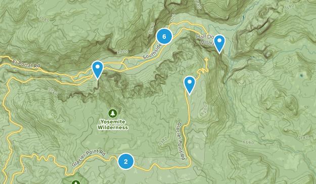 Yosemite Village, California Map