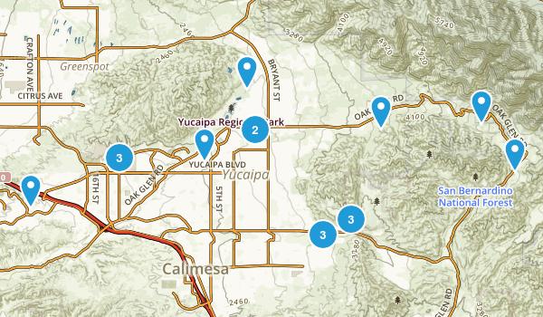 Yucaipa, California Map
