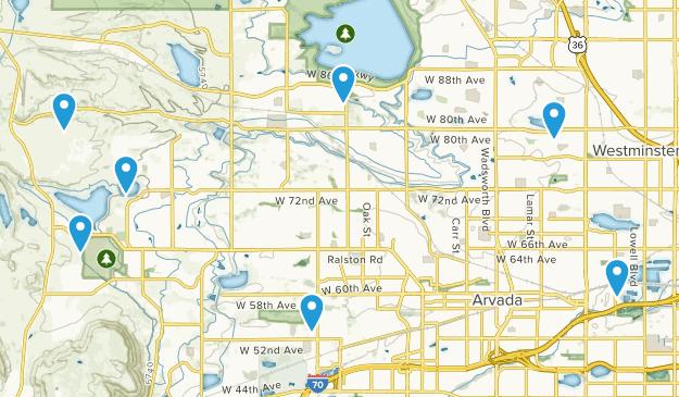 Arvada, Colorado Map