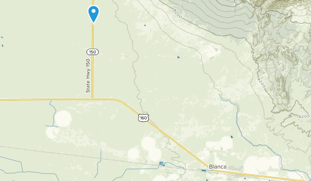 Blanca, Colorado Map