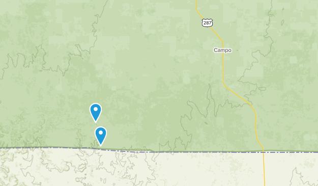 Campo, Colorado Map