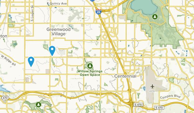 Centennial, Colorado Map