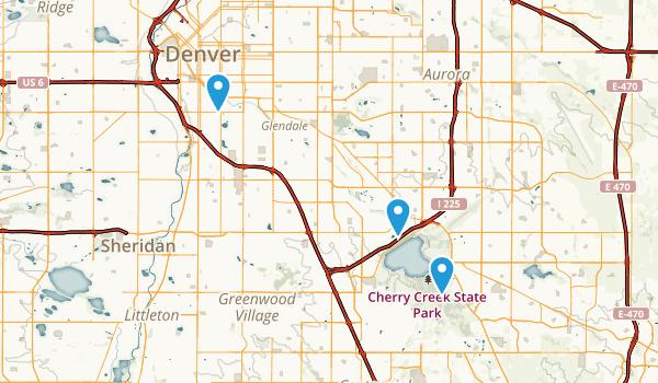 Cherry Creek, Colorado Map