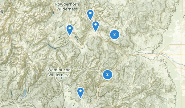 trail locations for Creede, Colorado