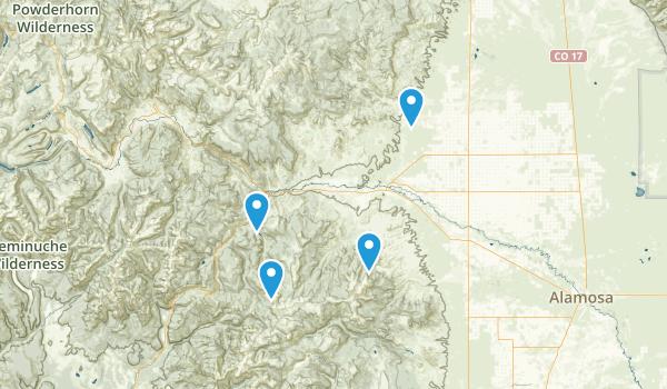 Del Norte, Colorado Map