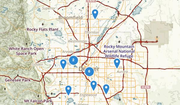 trail locations for Denver, Colorado