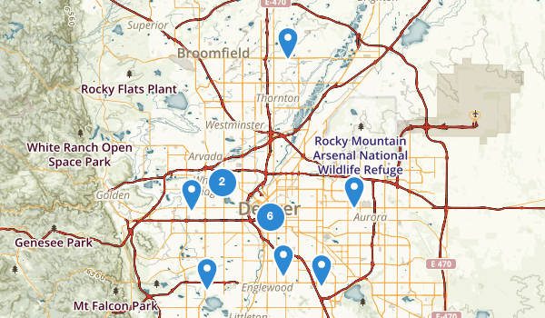 Denver, Colorado Map