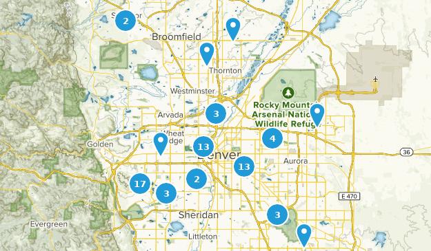 Map of Trails near Denver, Colorado | AllTrails Denver On Map on